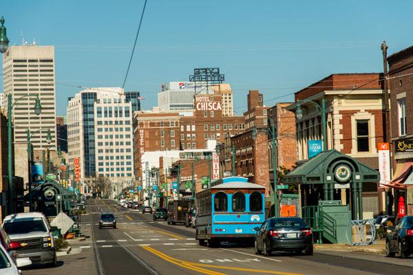 Main Street Depuis Le Quartier Historique