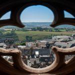 Cathédrale Notre Dame de Rodez. Vues de la ville depuis les planètes.